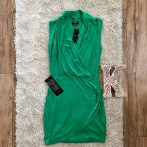 NWT Bebe Wrap 'Surplice' Sleeveless Mini Dress
